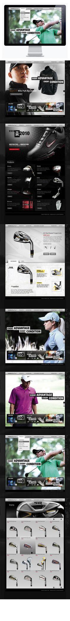 Nike Golf Corporate by Moosesyrup , via Behance