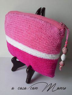 Crochet purse and pearl paperBorsellino a di Acasaconmanu su Etsy