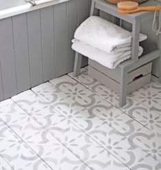 This large tile inspired, modern stencil is perfect for floors. Use it on bare or painted floorboards, laminate flooring, tiles and concrete. It...