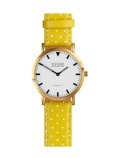 Portland Watch With Sunshine Polka Strap