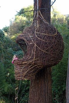 The Weaver's Nest by Porky Hefer Sizes vary and nests can be ordered to suit your needs. They can accommodate from 1 to 4 people.