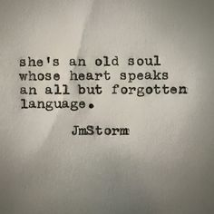 The language of depth.