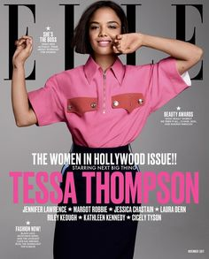 Tessa Thompson for Elle US - November 2017