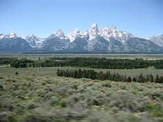Grand Teton Mountains ~ majestic and so breath taking beautiful!!  I saw them from both sides-WY & ID
