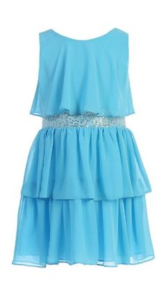 Sweet Kids Girls Sequin Belted Chiffon Dress 4 Turquoise ( Sk 401) sweet kids http://smile.amazon.com/dp/B00EYFRDBG/ref=cm_sw_r_pi_dp_sSS5tb1K12RY1