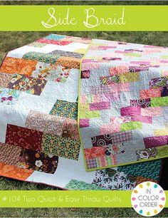 Side Braid Quilt Pattern by Jeni Baker, via Flickr