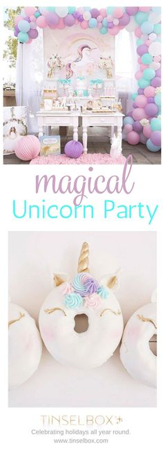 Magical Purple and Gold Unicorn Party