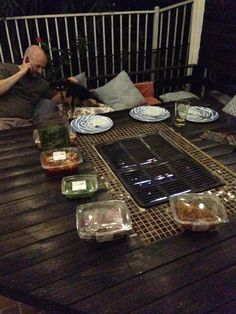 Build In Grill On My Outdoor Table Great For Korean BBQ Projects - Dining table with built in grill