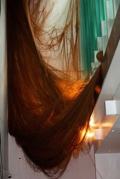 ALICE ANDERSON Mother Web (2010) Site specific sculpture made of 5000 metres of…