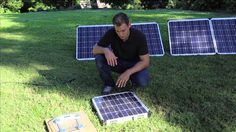 12v Portable Solar Panels for Camping - Demonstration Video by KIckAss