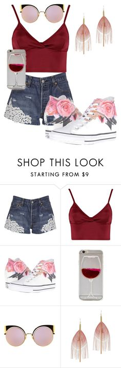 """""""Day At The Mall.-Abbey"""" by lilolover16 ❤ liked on Polyvore featuring Forte Couture, Lipsy, Converse, Fendi and Serefina"""