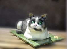 This is a cake. I repeat--this is a cake. Wow. Black and White Cat By Bohdanka on CakeCentral.com