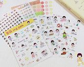 Korea Pretty Sticker Set - Deco Translucent Sticker Set