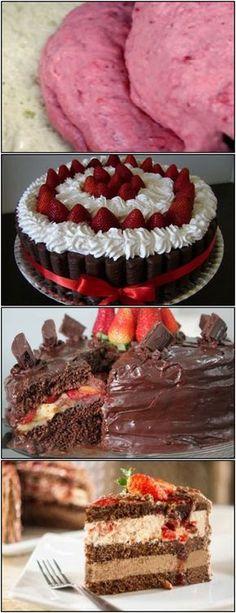 BOLO SENSAÇÃO LINDO veja AQUI>>>Pré-aqueça o forno à 180°C Enfarinhe o fundo apenas de uma forma redonda de 28 cm de diâmetro #receita#bolo#torta#doce#sobremesa#aniversario#pudim#mousse#pave#Cheesecake#chocolate#confeitaria