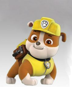 Characters for download. Paw Patrol rubble prints by PollysAprons