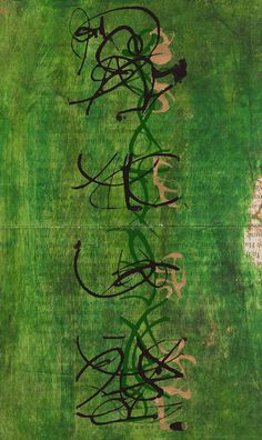 """Recent Asemic Work from Kerri Pullo.  (Asemic writing is a wordless open semantic form of writing. The word asemic means """"having no specific semantic content."""")"""