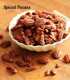 Spiced Pecans  	    I love these at anytime of year but the holidays again seem to bring them out. They go great with some many appetizers or antipasto or served just by them selves. Put out some assorted cheeses and crackers and these spiced nuts and you have a crowd pleaser with little effort.    Print  Spiced Pecans  Author: Tara Noland  Recipe type: Snack  Prep time:  5 mins  Cook time:  14 mins  Total time:  19 mins    Serves: 5 cups       A great snack anytime of