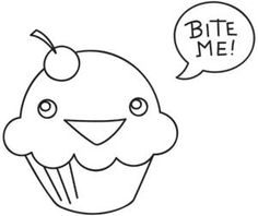 Bite Me! Cupcake | Urban Threads: Unique and Awesome Embroidery Designs