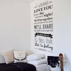 Simpático vinilo para cuarto de adolescentes. http://www.estilovinilos.com/vinilos/adolescentes/