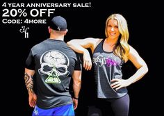 www.jekyllhydeapparel.com  4 years, 2 Days, 20%!   Jekyllhyde apparel turns 4 years old this week and we couldn't have done it without you! The road has not always been easy but it's always been worth it. We're celebrating by having a site wide sale for 2 days! Enjoy but hurry, supplies will run out!  Offer valid until September 8th at 11:59 pm EST! Tell a friend! (Offer excludes charity items)