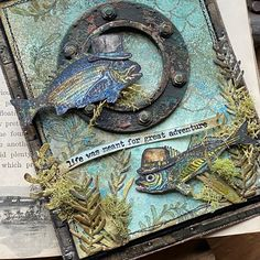 Tim Holtz Dies, Distress Markers, Nautical Cards, Nest Design, Wink Of Stella, Metallic Paper, Distressed Painting, Greatest Adventure, My Stamp