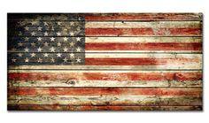 Cuadro moderno de la bandera americana, imitación madera. Disponibles más banderas de otros paises y varios tamaños.