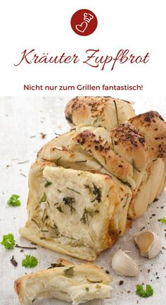 Zupfbrot mit Kräutern, Zwiebel & Knoblauch – Brot zum Grillen Bread recipes, grill recipes: Recipe for a delicious bread with herbs, garlic and onion. The ideal grill side dish, made easy and quick. Meatloaf Recipes, Bread Recipes, Grilled Side Dishes, Grilling Sides, Grilled Bread, Garlic Bread, Grilling Recipes, Food Porn, Food And Drink