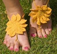 These Colourful Barefoot Sandals are perfect for the beach - or anywhere else you don't want to wear shoes!