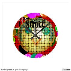 #Birthday #Smile #Round #Wallclock #Hakuna #Matata #Clock #funny #penguin #saying, #steal #my #sanity, #with #quote #Cute #Quotes #Clocks