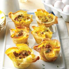 Want the recipe for the perfect brunch dish? Recreate these delicious crepe quiche cups.
