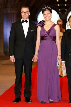 Crown Princess Victoria and Crown Prince Daniel at dinner celebrating the abdication of Queen Beatrix of the Netherlands 04.13