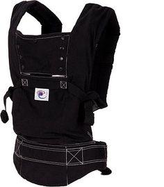 "ERGObaby Sport Baby Carrier - Black with White Stitching - ErgoBaby - Babies ""R"" Us"