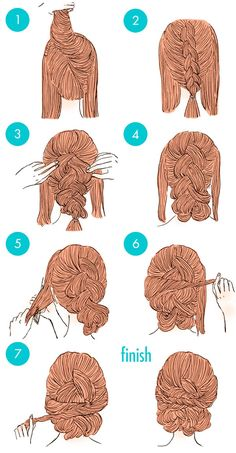 Easy hairstyles For Women With Long Hair Cool Braid Hairstyles, Modern Hairstyles, Pretty Hairstyles, Blunt Hair, New Hair Do, Top Braid, Pinterest Hair, Short Hair Cuts For Women, Braids For Long Hair