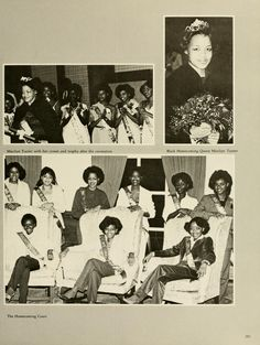 "Spectrum Green yearbook, 1982. ""Black Student Cultural Programming Board Co-Sponsors Black Homecoming."" :: Ohio University Archives"