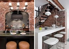 Exposed Brick Walls: 29 Photos for Decorating Inspiration