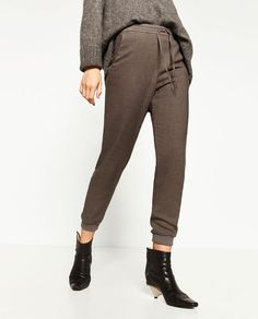 Image 2 of TWILL TROUSERS from Zara