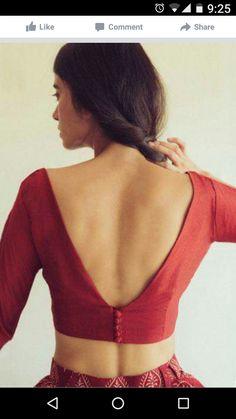 101 Stunning Saree Blouse Back Neck Designs Indian Blouse Designs, Choli Designs, Blouse Neck Designs, Latest Blouse Designs, Blouse Styles, Kurti Back Designs, Modern Blouse Designs, Saree Styles, Pune