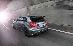 Vaeth (Väth), a German car tuner, offered a redesigned aerodynamic kit and engine improvements for the owners of the 2014 Mercedes-Benz AMG hatchback. Mercedes A45 Amg, Benz A Class, Upcoming Cars, Ford News, Top Gear, Van, Hatchbacks, Rear View, Trucks