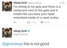 april 8th ✧ gerard way on twitter
