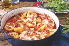 Rigatoni, Hawaiian Pizza, Chorizo, Paella, Ricotta, Cheeseburger Chowder, Mozzarella, Soup, Ethnic Recipes