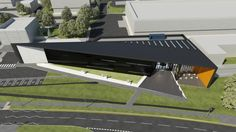 An aerial, artist's impression of The Royal Mint Visitor Centre, planned to open in 2015.  http://www.royalmint.com/pre-register/the-royal-mint-visitor-centre