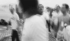 (My Gif) Freddie Mercury & Entourage arriving at Knebworth 1986.