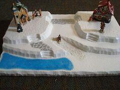 Village Display Platform Base J17 Dept 56 Lemax Dickens Snow Village (Large)