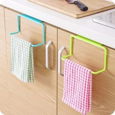 Amazon.com: Binmer(TM) Towel Rack Hanging Holder Organizer Bathroom... ($1.69) ❤ liked on Polyvore featuring home, home improvement and storage & organization