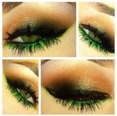 smokey eye with green Makeup Inspiration