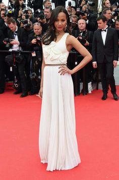 Best Cannes dresses ever: Zoe Saldana in Victoria Beckham, 2014