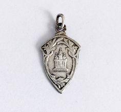 Antique French Holy Blood Medal Roman Catholic Pendant