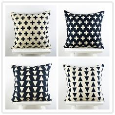"18""*18"" Decorative Ikea Throw Pillow Cover  Feather Cross Geometry Printed Black Cotton Linen Cushion Cover almofadas para sofa Sofa Cushion Covers, Throw Pillow Covers, Black Linen, Black Cotton, Textiles, Home Textile, Cotton Linen, Decorative Throw Pillows, Geometry"
