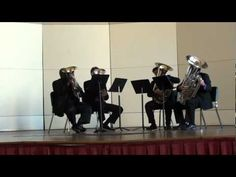 """Hide and Seek"" by Imogen Heap played by the Sotto Voce Tuba Euphonium Quartet"