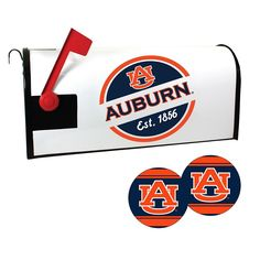 Auburn Tigers Magnetic Mailbox Cover & Decal Set, Multicolor